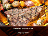 Food & Beverage: Stake PowerPoint Template #09188