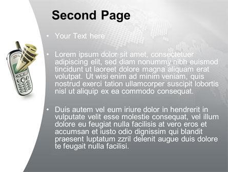 Mobile Commerce PowerPoint Template, Slide 2, 09189, Telecommunication — PoweredTemplate.com