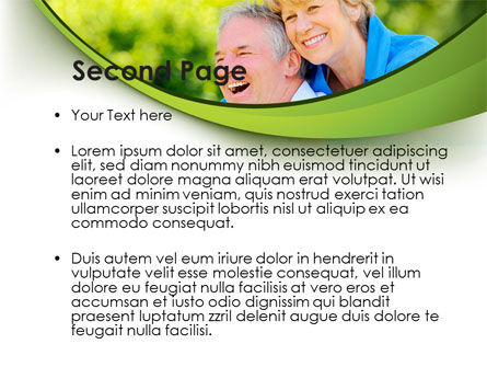 Elderly Man And Woman PowerPoint Template, Slide 2, 09193, People — PoweredTemplate.com