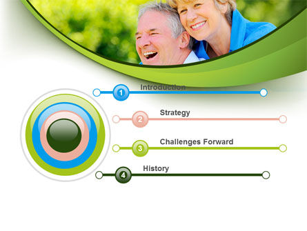 Elderly Man And Woman PowerPoint Template, Slide 3, 09193, People — PoweredTemplate.com