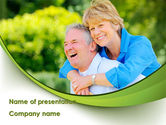 People: Elderly Man And Woman PowerPoint Template #09193