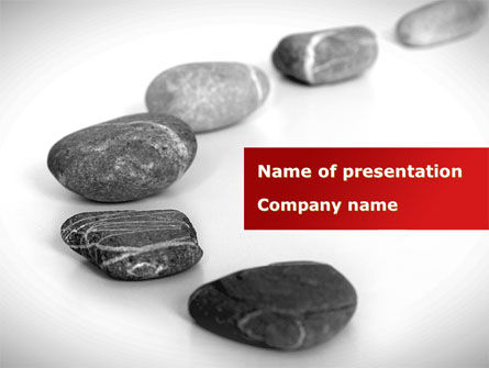 Nature & Environment: Stone Way PowerPoint Template #09197