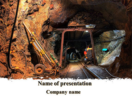 Careers/Industry: Mine PowerPoint Template #09198