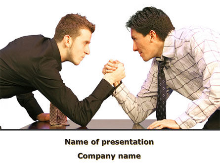 Armwrestling PowerPoint Template, 09199, Consulting — PoweredTemplate.com