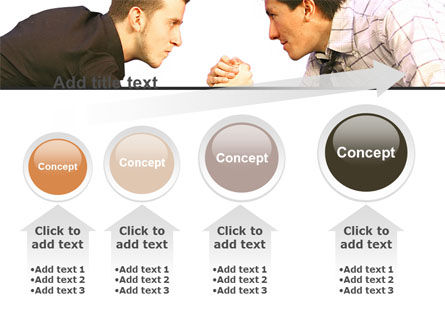 Armwrestling PowerPoint Template Slide 13