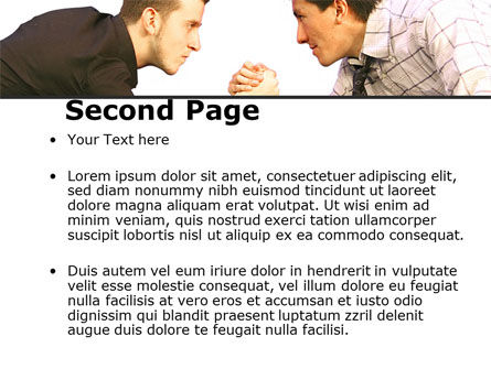 Armwrestling PowerPoint Template, Slide 2, 09199, Consulting — PoweredTemplate.com