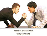 Consulting: Armwrestling PowerPoint Template #09199