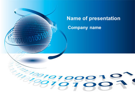 Telecommunication: Digital Global Technologies PowerPoint Template #09201
