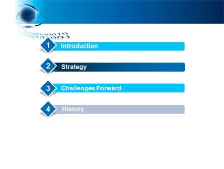 Digital Global Technologies PowerPoint Template, Slide 3, 09201, Telecommunication — PoweredTemplate.com