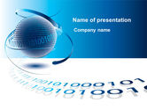 Telecommunication: Modello PowerPoint - Tecnologie global digital #09201