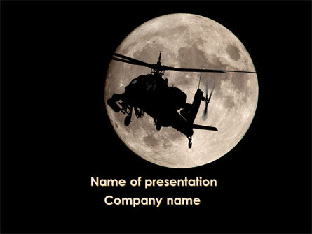 Attack Helicopter AH-64 Apache PowerPoint Template