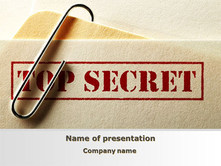 Top Secret Documents PowerPoint Template, 09204, Careers/Industry — PoweredTemplate.com