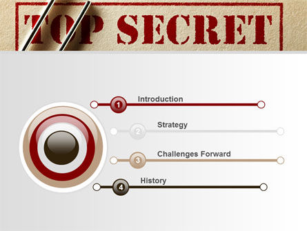 Top Secret Documents PowerPoint Template, Slide 3, 09204, Careers/Industry — PoweredTemplate.com