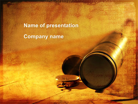 Business Concepts: Spy Glass PowerPoint Template #09205