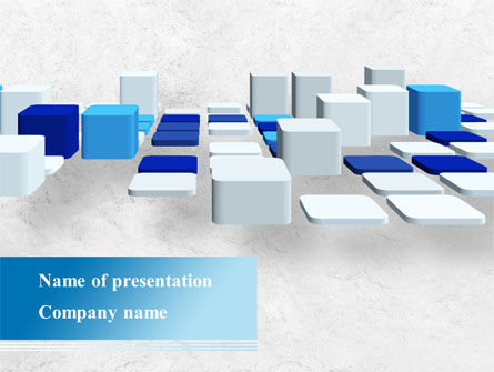 Abstract Light Blue Cubes PowerPoint Template, 09206, Abstract/Textures — PoweredTemplate.com