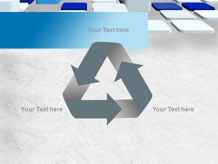 Abstract Light Blue Cubes PowerPoint Template Slide 10