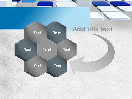 Abstract Light Blue Cubes PowerPoint Template Slide 11