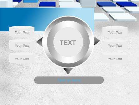 Abstract Light Blue Cubes PowerPoint Template Slide 12