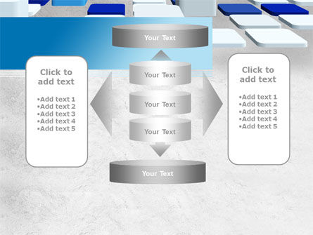 Abstract Light Blue Cubes PowerPoint Template Slide 13