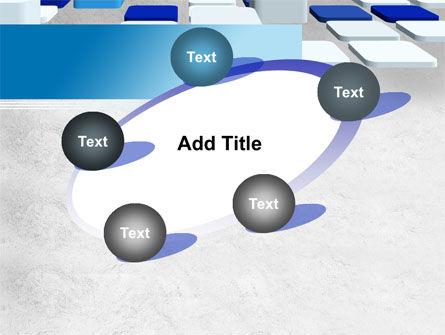 Abstract Light Blue Cubes PowerPoint Template Slide 14