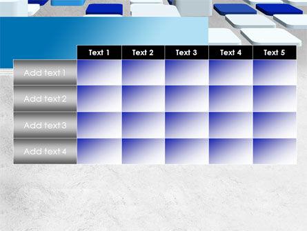 Abstract Light Blue Cubes PowerPoint Template Slide 15