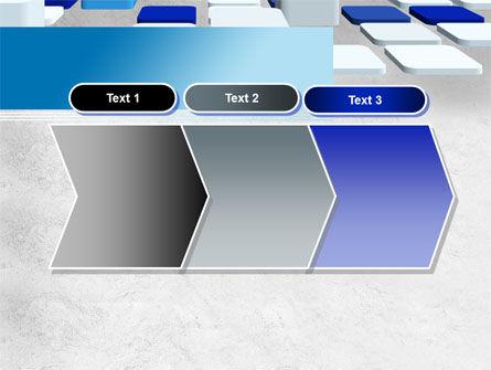 Abstract Light Blue Cubes PowerPoint Template Slide 16