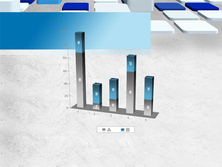 Abstract Light Blue Cubes PowerPoint Template Slide 17