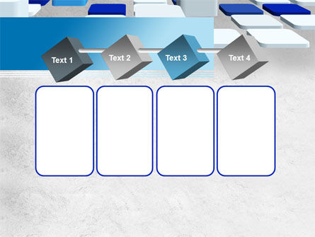Abstract Light Blue Cubes PowerPoint Template Slide 18