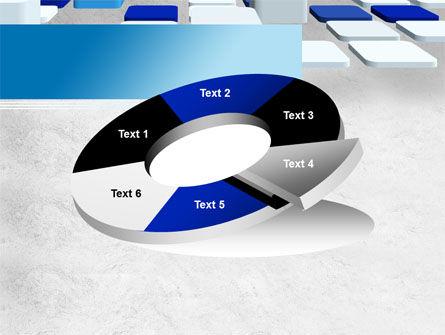 Abstract Light Blue Cubes PowerPoint Template Slide 19