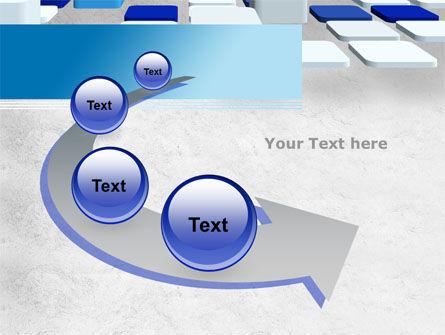 Abstract Light Blue Cubes PowerPoint Template Slide 6