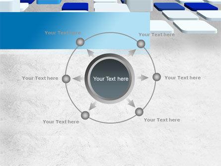 Abstract Light Blue Cubes PowerPoint Template Slide 7