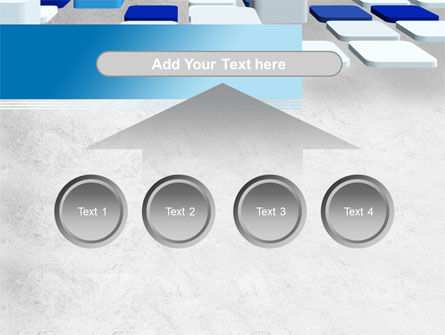 Abstract Light Blue Cubes PowerPoint Template Slide 8