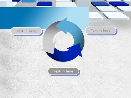 Abstract Light Blue Cubes PowerPoint Template Slide 9