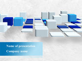 Abstract/Textures: Abstract Light Blue Cubes PowerPoint Template #09206
