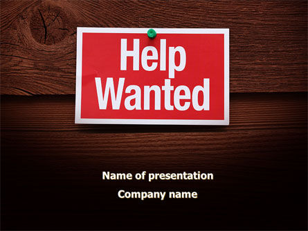 Help Wanted PowerPoint Template