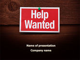 Consulting: Help Wanted PowerPoint Template #09207