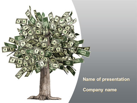 Mature Money Tree PowerPoint Template