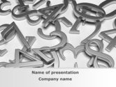 Education & Training: Steel Digits PowerPoint Template #09209