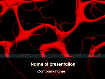 Arteries Carrying Blood PowerPoint Template, 09211, Medical — PoweredTemplate.com