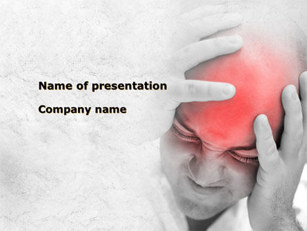 Medical: Headache PowerPoint Template #09212