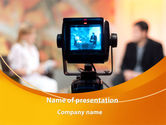 Telecommunication: Television Studio PowerPoint Template #09213