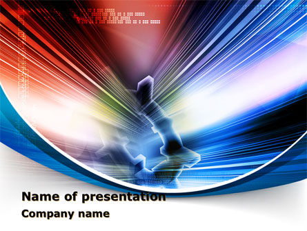 Bright Abstract Gear PowerPoint Template, 09214, Careers/Industry — PoweredTemplate.com