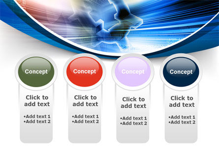 Bright Abstract Gear PowerPoint Template Slide 5