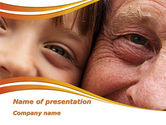 People: Grandfather And Grandson PowerPoint Template #09215