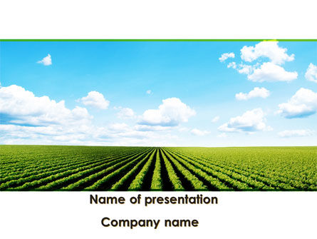 Agriculture: Cultivated Field PowerPoint Template #09216