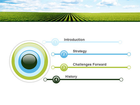 Cultivated Field PowerPoint Template, Slide 3, 09216, Agriculture — PoweredTemplate.com