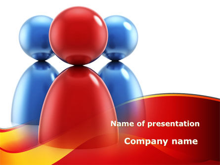 Consulting: Group Leader PowerPoint Template #09219