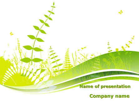 Grass Field PowerPoint Template, 09221, Nature & Environment — PoweredTemplate.com