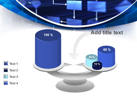Flowchart in Three Dimensions PowerPoint Template Slide 10