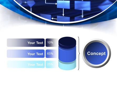 Flowchart in Three Dimensions PowerPoint Template Slide 11